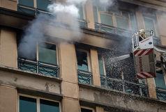 آتش سوزی در پارکینگ ساختمان 5 طبقه در تبریز