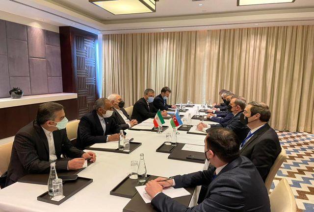 ظریف با همتای آذربایجانی خود دیدار کرد