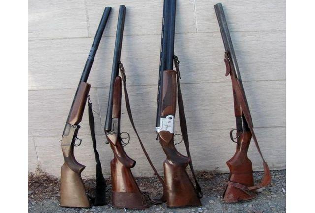 کشف 4 قبضه سلاح شکاری غیرمجاز