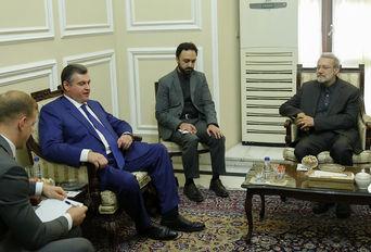دیدار علی لاریجانی با رییس کمیته امور بین الملل دومای روسیه