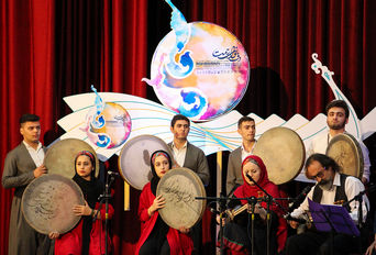 افتتاحیه نهمین جشنواره دف نوای رحمت