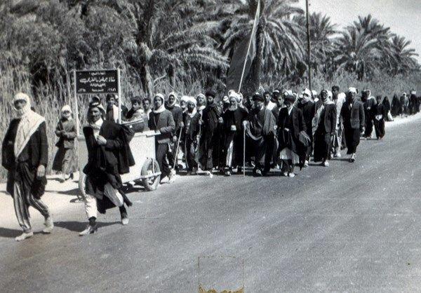 عکسی زیر خاکی از پیاده روی اربعین