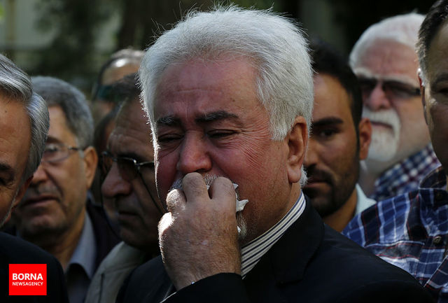 اشک های فؤاد بابان در اندوه وداع با یار دیرین