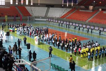 آیین افتتاحیه المپیاد ورزشی تیراندازی با کمان کشور در همدان