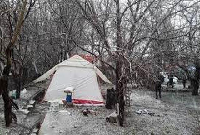 برف و باران در راه شهر زلزله زده سی سخت