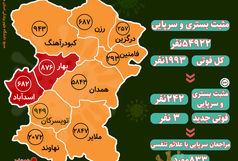 آخرین و جدیدترین آمار کرونایی استان همدان تا 16 اردیبهشت 1400