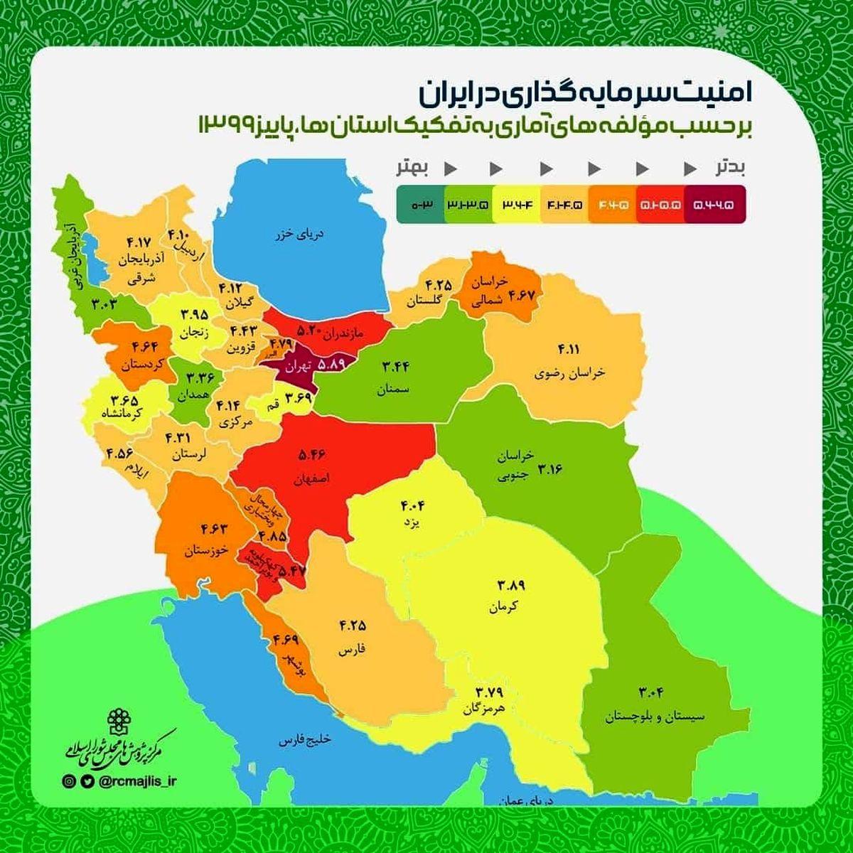 آذربایجانغربی رتبه برتر امنیت سرمایه گذاری در کشور
