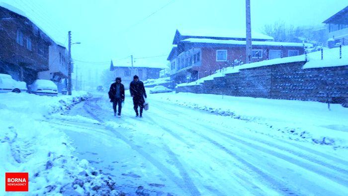 برف زیبایی کلاردشت را دو چندان کرد+عکس