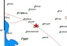 زلزله در تبریز+ تصویر دقیق مکان زلزله