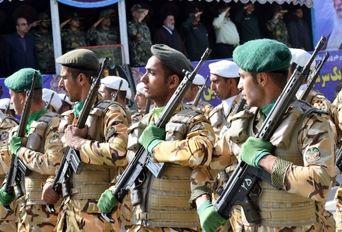رژه نیروهای مسلح در لرستان