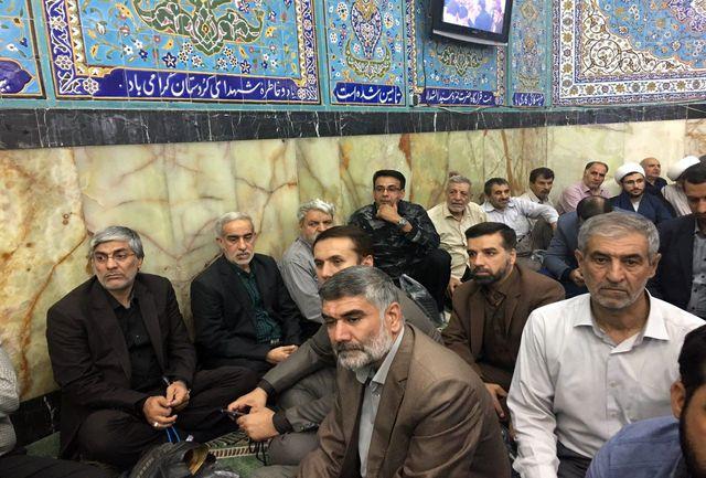 هاشمی در مراسم گرامیداشت شهید حججی حضور یافت