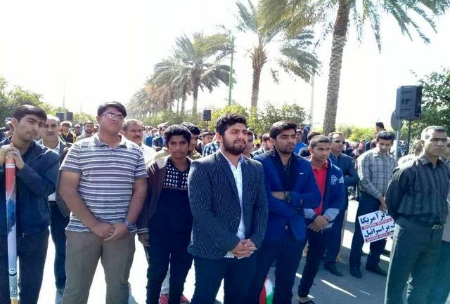 حضور پرشور هنرمندان حاجی آباد در راهپیمایی ٢٢بهمن