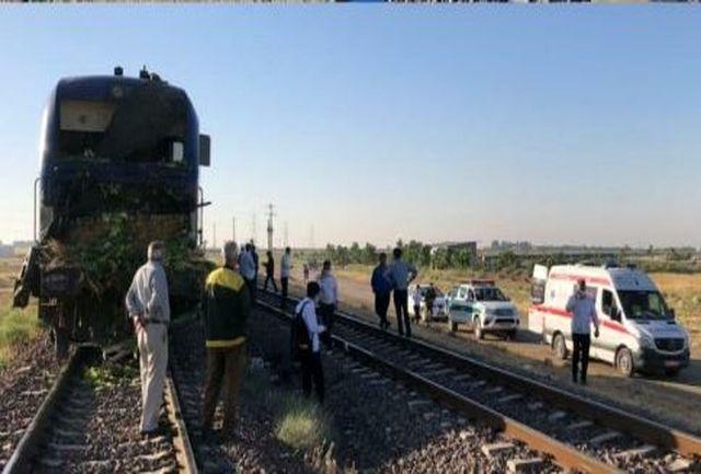 برخورد قطار با کامیون یک کشته برجای گذاشت