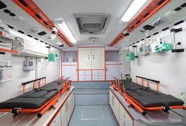 استقرار یک دستگاه اتوبوس آمبولانس در شهرستان نهبندان