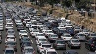 واژگونی تریلی ترافیک آزادراه کرج قزوین را سنگین کرد
