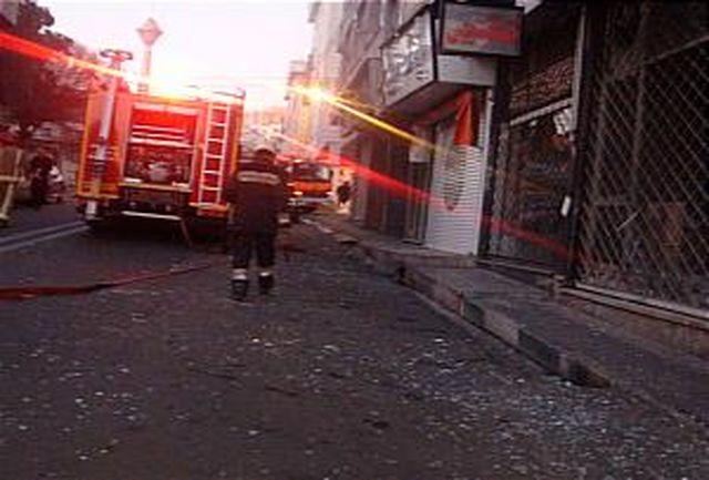 انفجار ساختمان 3 طبقه در شهر آرا