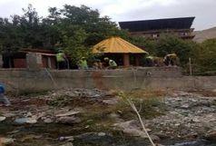 تخریب ساخت و سازهای غیر مجاز حریم رودخانه ناصرآباد