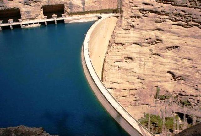کاهش چشم گیر وردی و خروجی سد/ دبی خروجی ۱۲۰۰ است/۳۰۰ میلیون متر مکعب توان ذخیره سازی آب سد