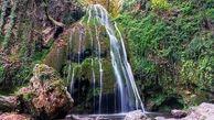 تنها آبشار خزه ای ایران + عکس