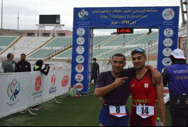 رقابتهای دواتلون قهرمانی نخبگان کشور در بخش آقایان برگزار شد