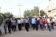 برگزاری همایش پیاده روی در ناصرآباد و دانش