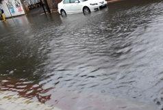 رگبار شدید باران و آبگرفتگی معابر در گیلان