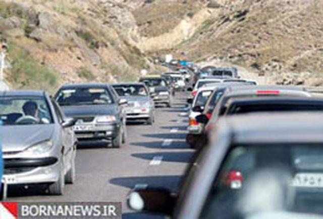 ترافیک در محور چالوس-کرج سنگین شد