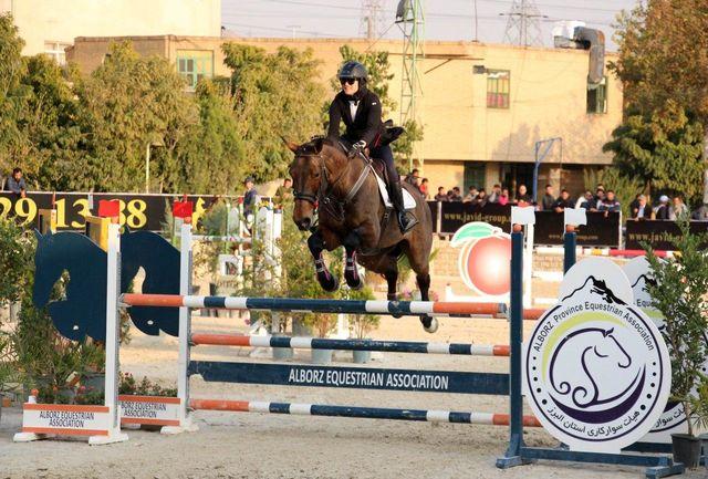 مسابقات قهرمانی پرش با اسب مالکین کشوری در البرز برگزار شد