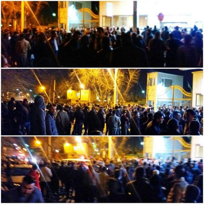 حضور و تجمع گسترده شهروندان سقز مقابل بیمارستان و ایجاد ترافیک شدید+عکس
