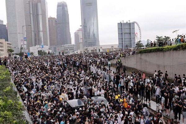 همه پروازهای خروجی فرودگاه هنگکنگ لغو شد