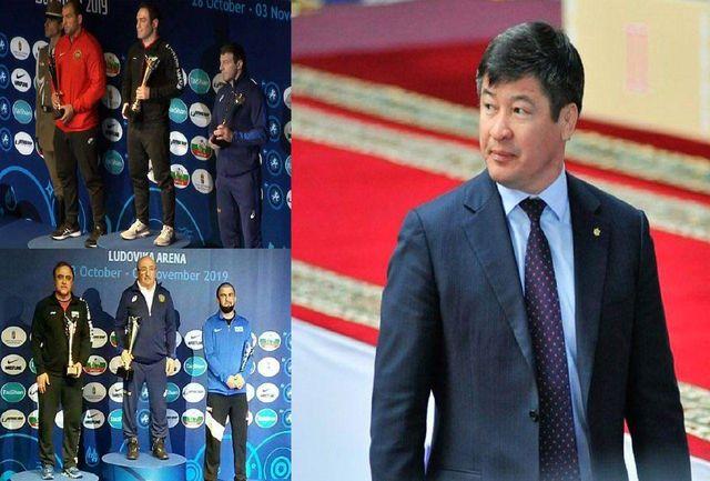 تبریک رئیس شورای کشتی آسیا به فدراسیون کشتی