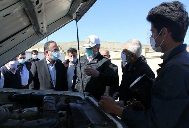 بازدید فرماندار ارومیه از مراکز تعویض پلاک و شهرک آزمایش