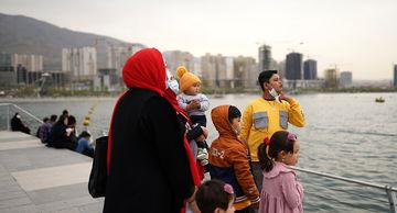 دریاچه چیتگر تهران در نوروز ۱۴۰۰