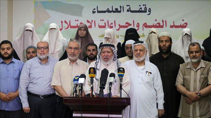 تظاهرات در غزه علیه طرح الحاق کرانه باختری به اسرائیل