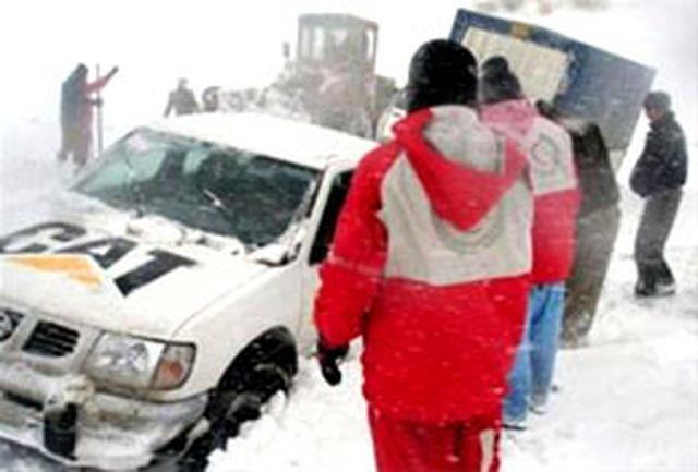حادثه دیدگان ریزش بهمن در محور خلخال – پونل نجات یافتند