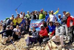 صعود کوهنوردان آران و بیدگلی به قله هفت تنان زردکوه