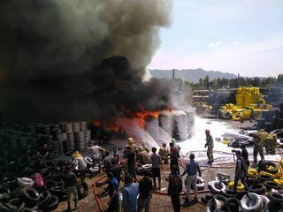 آتش سوزی در بارانداز