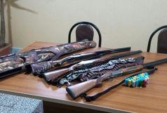 کشف وضبط سه قبضه سلاح شکاری در منطقه رحیم آباد شهرستان رودسر