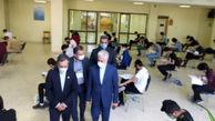 بازدید وزیر علوم از حوزههای برگزاری آزمون سراسری در دانشگاه فردوسی مشهد