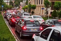 ترافیک سنگینی در آزادراه کرج - قزوین
