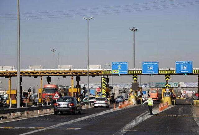 ترافیک سنگین در آزادراه ساوه-تهران