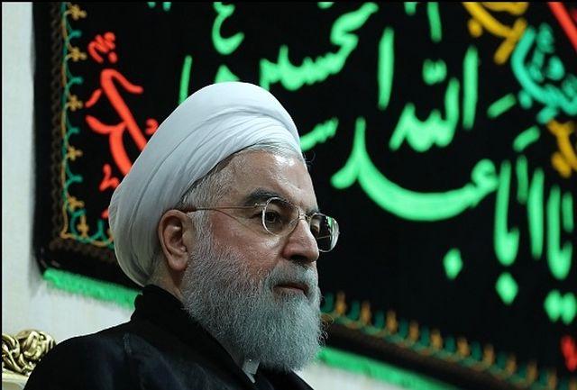 Image result for روحانی در گذشت مادر شهید