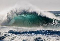 رسیدن ارتفاع موج در دریای عمان به سه متر !