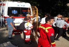 هلال احمر شمیرانات جوان سقوط کرده از آبشار کلوگان را نجات داد