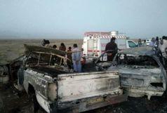 حادثه خونین در جاده سراوان به خاش؛ ۶ نفر در آتش سوختند