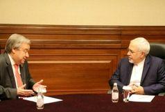گفتوگوی تلفنی محمدجواد ظریف و آنتونیو گوترش