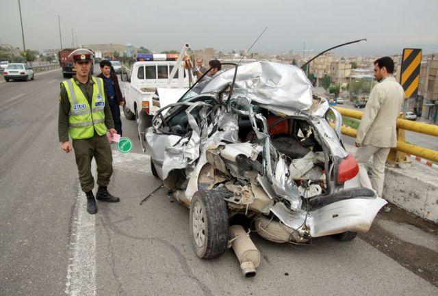 یک کشته و 2 مجروح بر اثر واژگونی خودرو در همدان