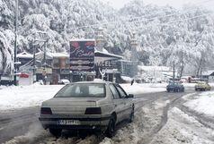 بارش باران و برف در محورهای مواصلاتی استان فارس