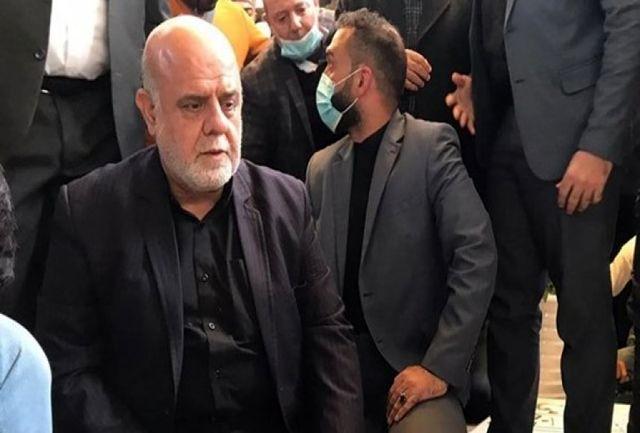 """حضور سفیر ایران در عراق بر مزار شهید """"ابومهدی المهندس"""""""