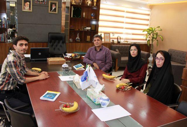 دیدار اعضا شورای مرکزی انجمن نجوم آیاز تبریز با ریاست پژوهشکده رانشگرهای فضایی